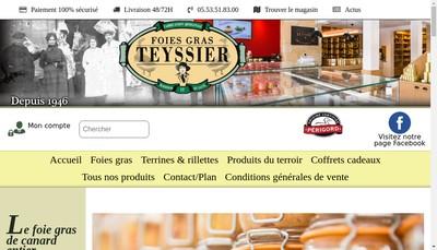 Site internet de Foies Gras Teyssier
