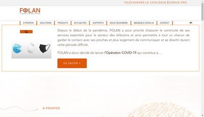 Site internet de Folan