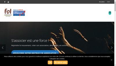 Site internet de Feder Oeuvre Laique Ardeche