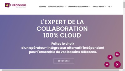 Site internet de Foliateam