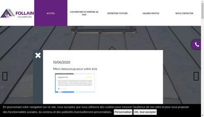 Site internet de Follain Couverture
