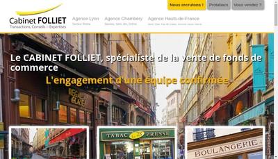 Site internet de Folliet Transactions - Tourisme Consulta