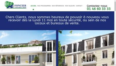 Site internet de Foncier Construction