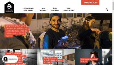Site internet de Fondat Abbe Pierre Logement Defavorises