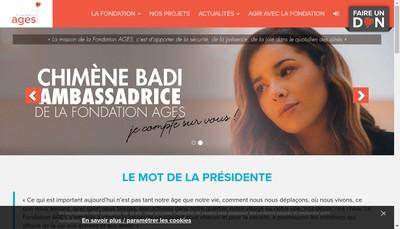 Site internet de Fondation Alsace Personnes Agees