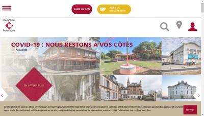 Site internet de Fondation du Patrimoine
