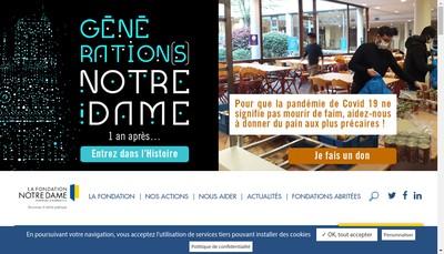Site internet de Fondation Notre Dame