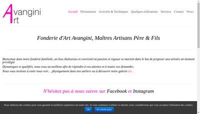 Site internet de Avangini