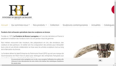 Site internet de Fonderie de Bronze Lauragaise