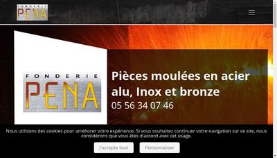 Site internet de Fonderie Pena