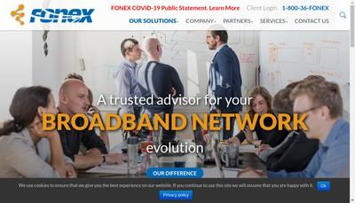 Site internet de Fonex