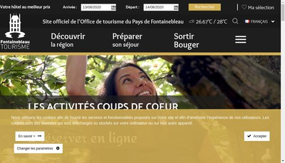 Site internet de Pays de Fontainebleau Tourisme