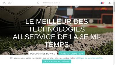 Site internet de Footbar