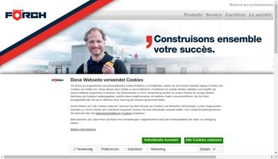 Site internet de Forch France