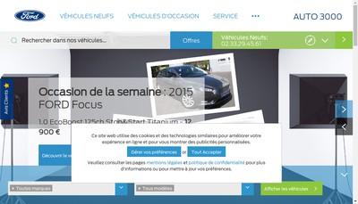 Site internet de Auto 3000