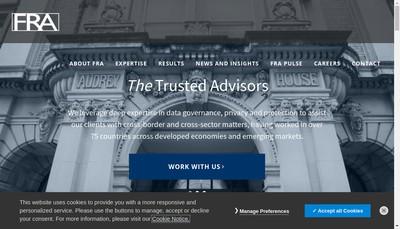 Site internet de Forensic Risk Alliance
