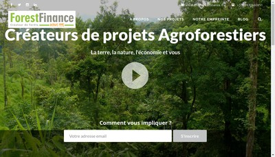 Site internet de Forest Finance France