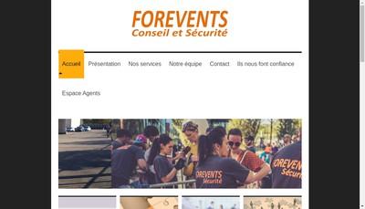 Site internet de Forevents Conseil et Securite