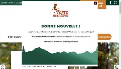 Site internet de Forez Aventures