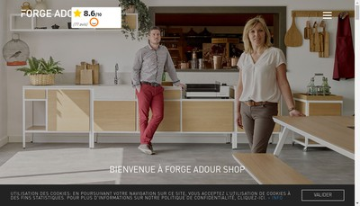 Site internet de Forge Adour Shop