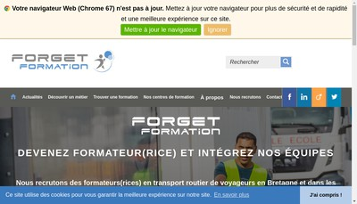 Site internet de Forget