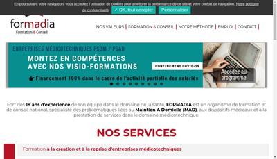 Site internet de Formadia