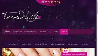 Site internet de Formanails