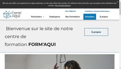 Site internet de Form'Aqui