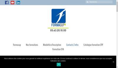 Site internet de Formasup 82