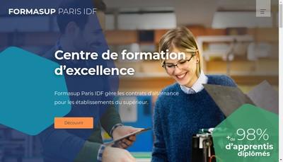 Site internet de Formasup Paris Ile-de-France