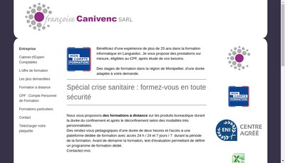 Site internet de Francoise Canivenc SARL