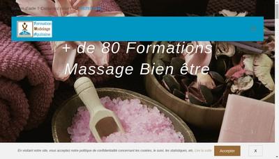 Site internet de Formation Modelage Aquitaine