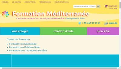 Site internet de Formation Mediterranee