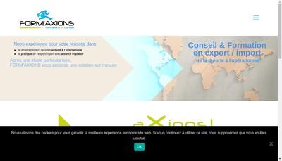 Site internet de Form'Axions