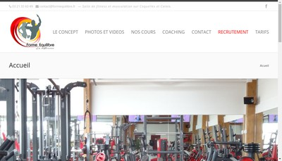 Site internet de Forme Equilibre
