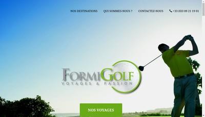 Site internet de Formigolf