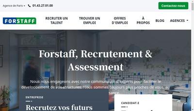 Site internet de Forstaff