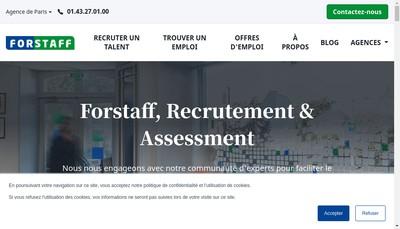 Site internet de Forstaff Holding