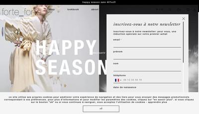 Site internet de Forte Forte France