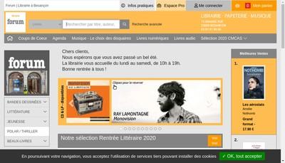 Site internet de Librairie Forum