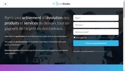 Site internet de Forum Etudes