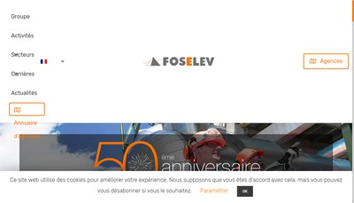 Site internet de Foselev Mediterranee