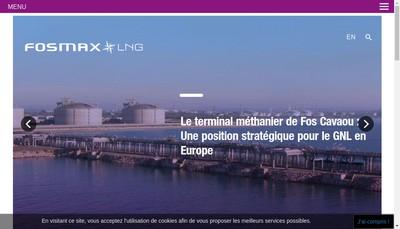 Site internet de Fosmax Lng