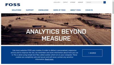 Site internet de Foss France SA
