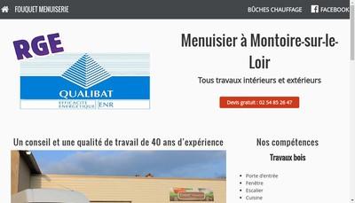 Site internet de Fouquet Menuiserie