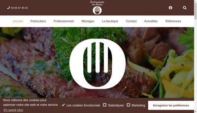 Site internet de A la Fourchette des Arenes