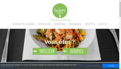 Site internet de Fourchette Academie
