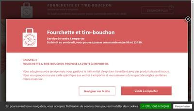 Site internet de Fourchette & Tire - Bouchon