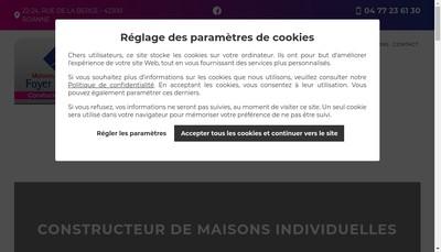 Site internet de Le Foyer Roannais