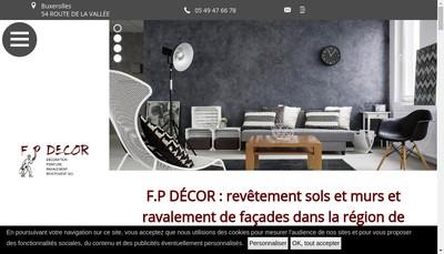 Site internet de FP Decor